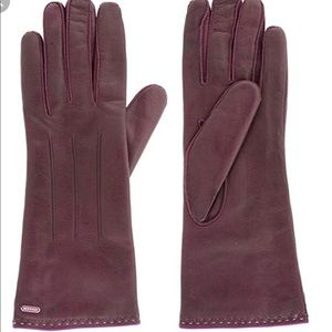 Coach leather women's gloves